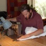 Me, sewing