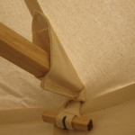 Wooden toggle wall attachment