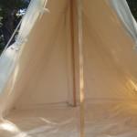 Wedge tent (1 door open)