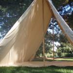 Wedge tent (both doors open)