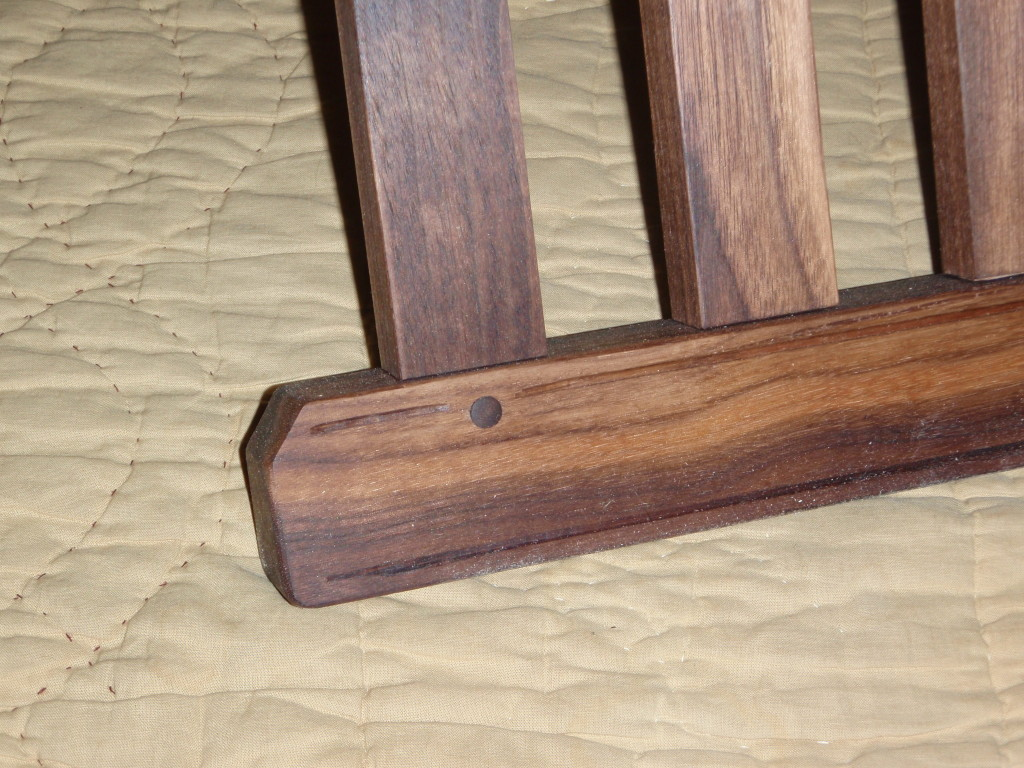 Pegged mortise and tennon joints