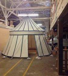 Round pavilion Indoors