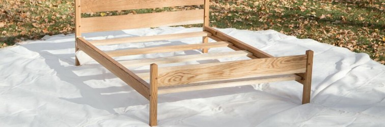An oak field bed